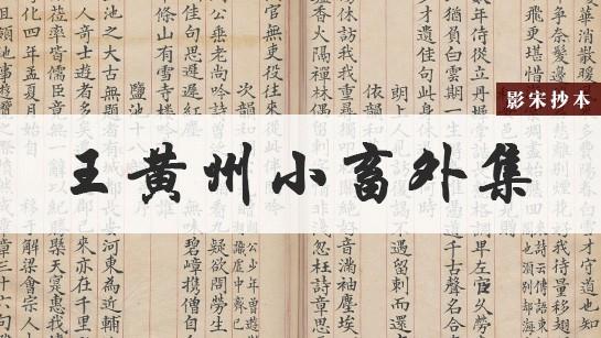 王黄州小畜外集